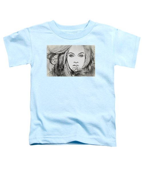 Adele Charcoal Sketch Toddler T-Shirt by Dan Sproul