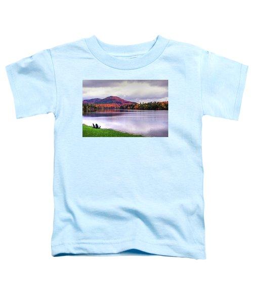 Adirondack Chairs In The Adirondacks. Mirror Lake Lake Placid Ny New York Mountain Toddler T-Shirt