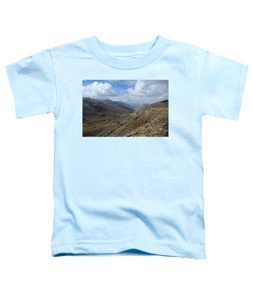 Aerial Shot Of Mountainous Karakoram Highway Babusar Pass Pakistan Toddler T-Shirt