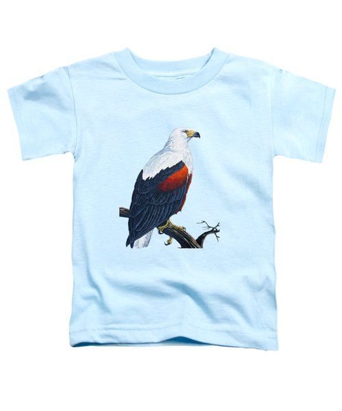 African Fish Eagle Toddler T-Shirt by Anthony Mwangi