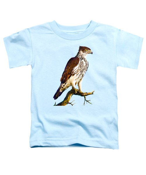 African Hawk Eagle Toddler T-Shirt by Anthony Mwangi