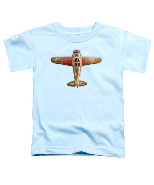 Airplane Scrapper On Color Paper Toddler T-Shirt