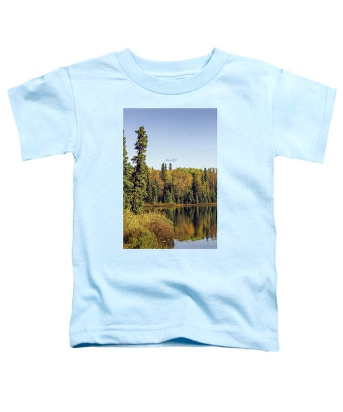 Alaskan Lake In Autumn Toddler T-Shirt