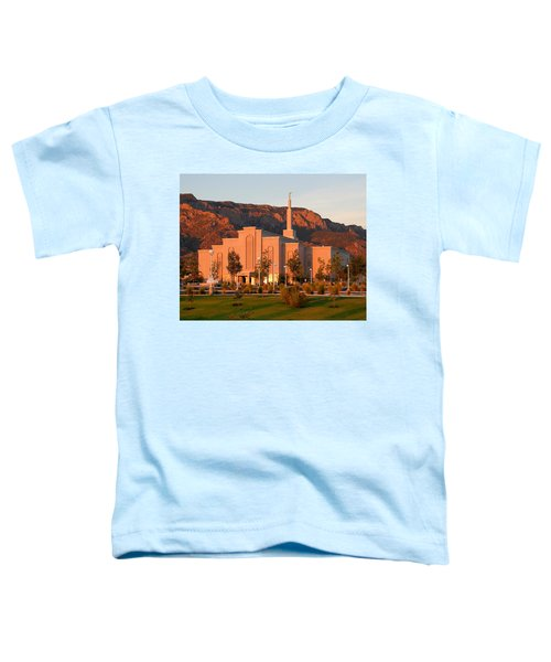 Albuquerque Lds Temple At Sunset 1 Toddler T-Shirt