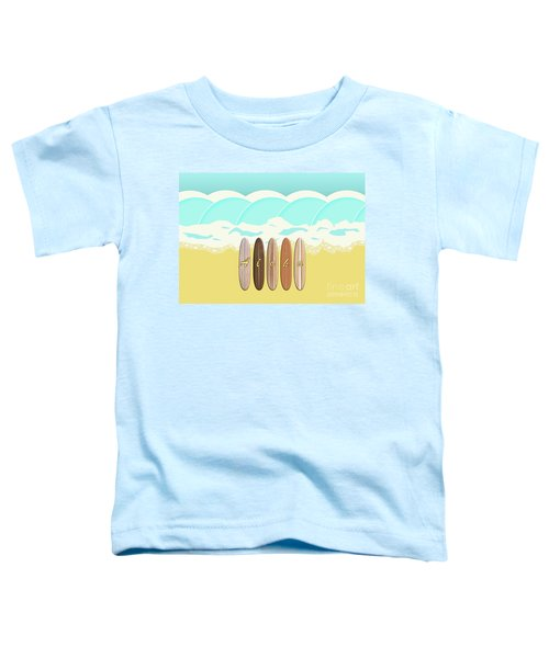 Aloha Surf Wave Beach Toddler T-Shirt