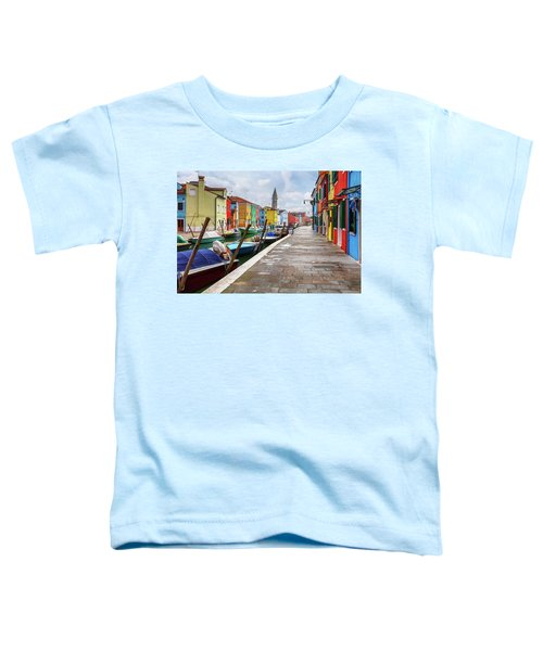 Along The Canal In Burano Island Toddler T-Shirt