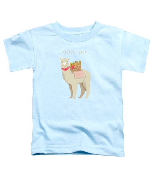 Alpaca Lunch Toddler T-Shirt by Little Bunny Sunshine