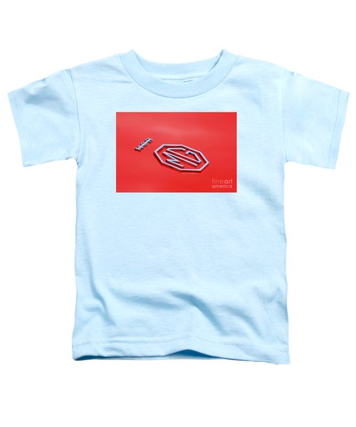 Toddler T-Shirt featuring the photograph Aluminum Font by Stephen Mitchell