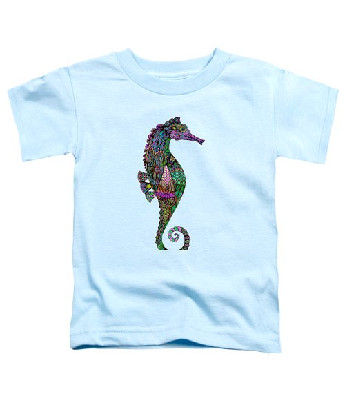Electric Lady Seahorse  Toddler T-Shirt by Tammy Wetzel