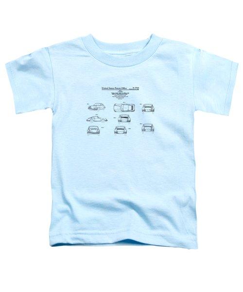 Porsche 911 Patent Toddler T-Shirt by Mark Rogan