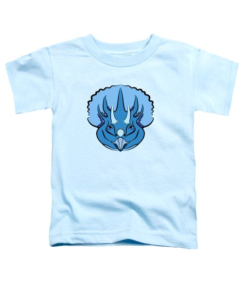 Triceratops Graphic Blue Toddler T-Shirt