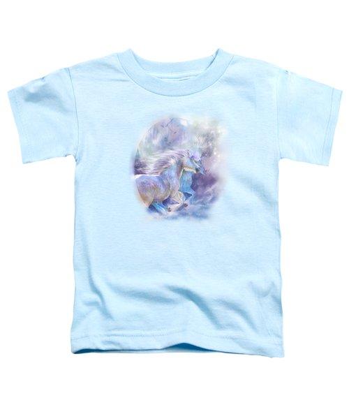 Unicorn Soulmates Toddler T-Shirt by Carol Cavalaris
