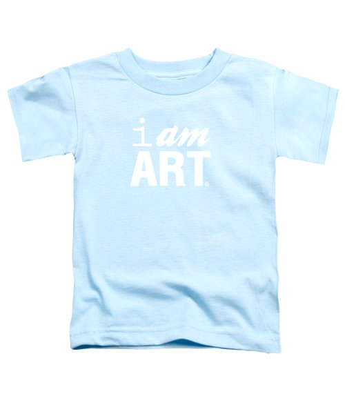 I Am Art- Shirt Toddler T-Shirt by Linda Woods