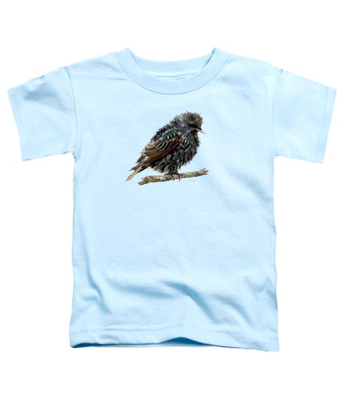 Wet Starling Toddler T-Shirt by Bamalam Photography