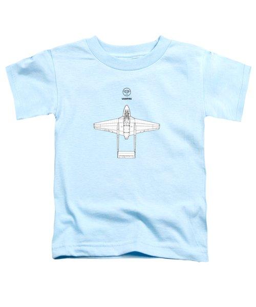 The De Havilland Vampire Toddler T-Shirt by Mark Rogan