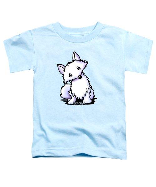Arctic Fox Toddler T-Shirt by Kim Niles