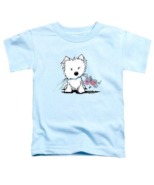 Kiniart Flower Ninja Toddler T-Shirt