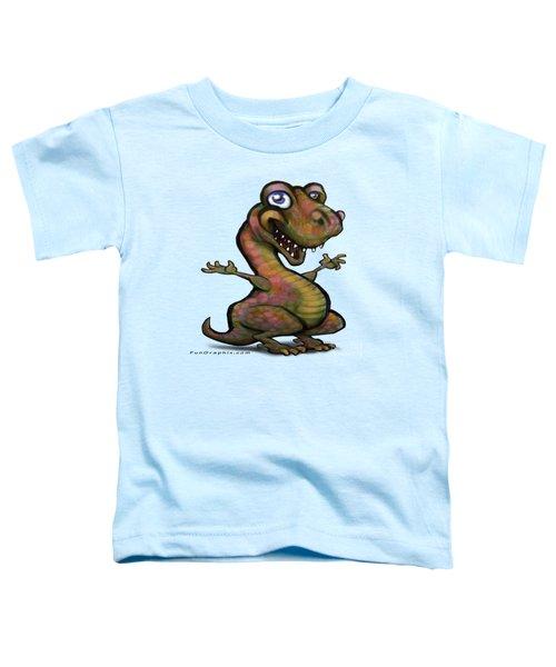 Baby T-rex Blue Toddler T-Shirt