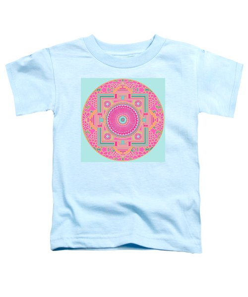 Toddler T-Shirt featuring the digital art Asian Inspiration Mandala by Joy McKenzie