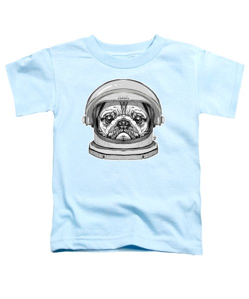 Astronault Pug Toddler T-Shirt