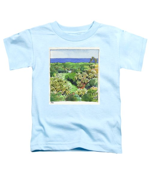 Toddler T-Shirt featuring the painting Atiu Lake View by Judith Kunzle