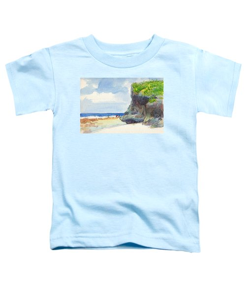 Toddler T-Shirt featuring the painting Atiu, Women Gathering Seafood by Judith Kunzle