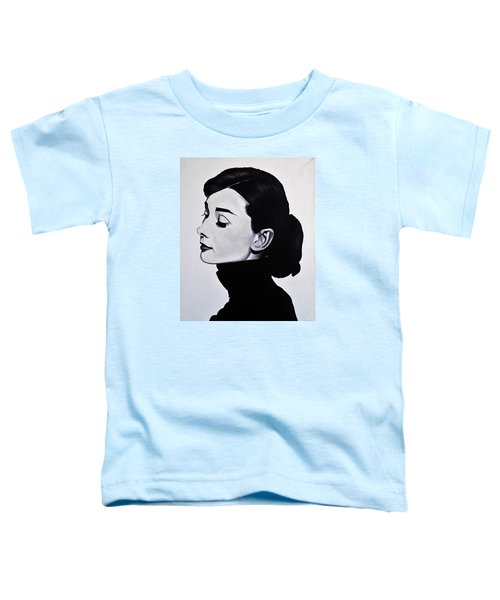 Audrey Hepburn 1 Toddler T-Shirt by Brian Broadway
