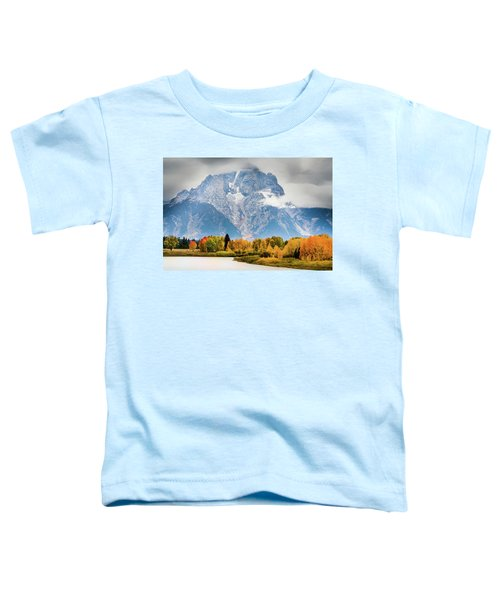 Autumn Storm Over Mount Moran Toddler T-Shirt