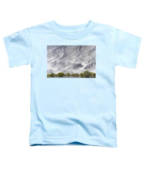 Backdrop Of Sand, Chumathang, 2006 Toddler T-Shirt by Hitendra SINKAR