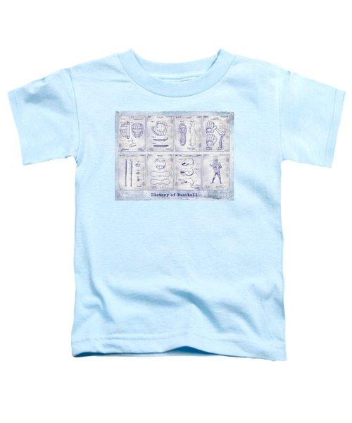 Baseball Patent History Blueprint Toddler T-Shirt