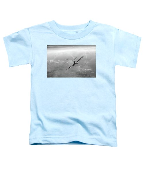 Toddler T-Shirt featuring the photograph Battle Of Britain Spitfires Over Kent by Gary Eason