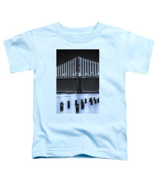 Bay Bridge 2 In Blue Toddler T-Shirt