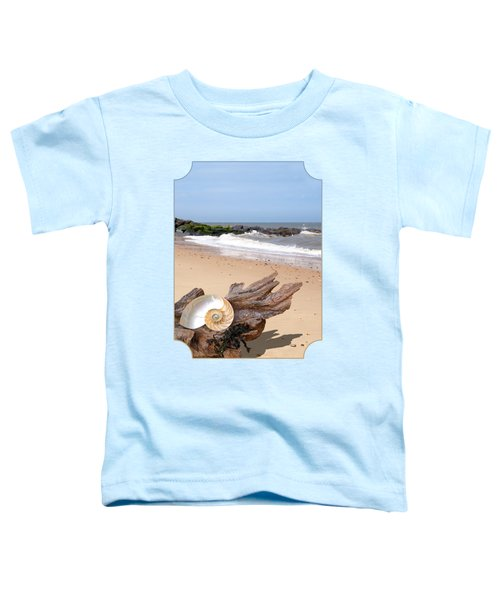 Beachcombing - Driftwood And Shells Toddler T-Shirt