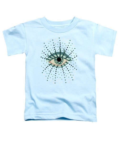 Beautiful Abstract Dotted Blue Eye Toddler T-Shirt