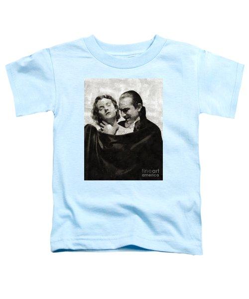 Bela Lugosi And Helen Chandler, Dracula Toddler T-Shirt