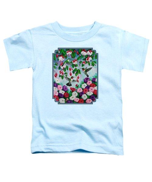 Bird Painting - Hummingbird Heaven Toddler T-Shirt