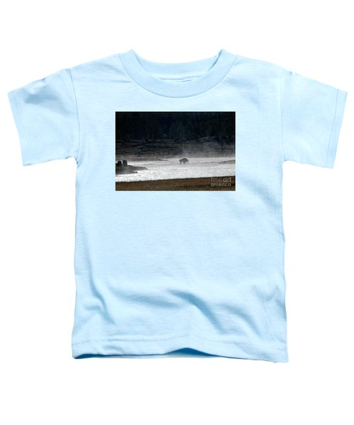 Bison In The River Toddler T-Shirt