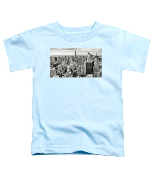 Toddler T-Shirt featuring the photograph Black And White Skyline by MGL Meiklejohn Graphics Licensing