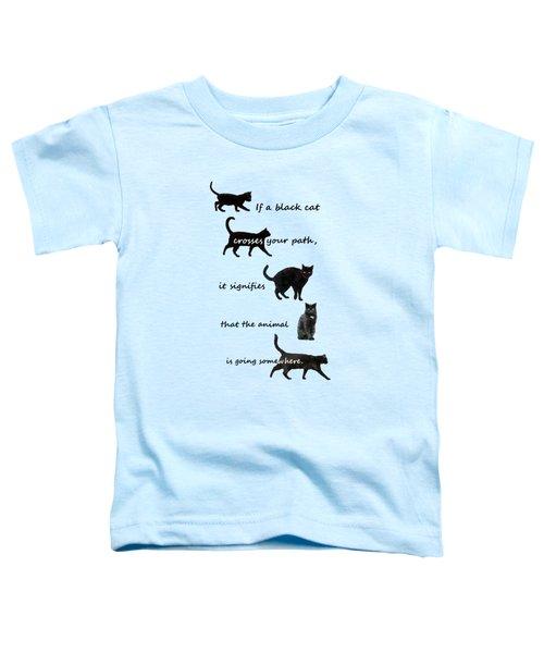 Black Cat Crossing Toddler T-Shirt
