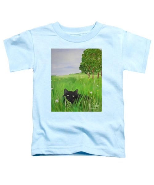 Black Cat In A Meadow Toddler T-Shirt
