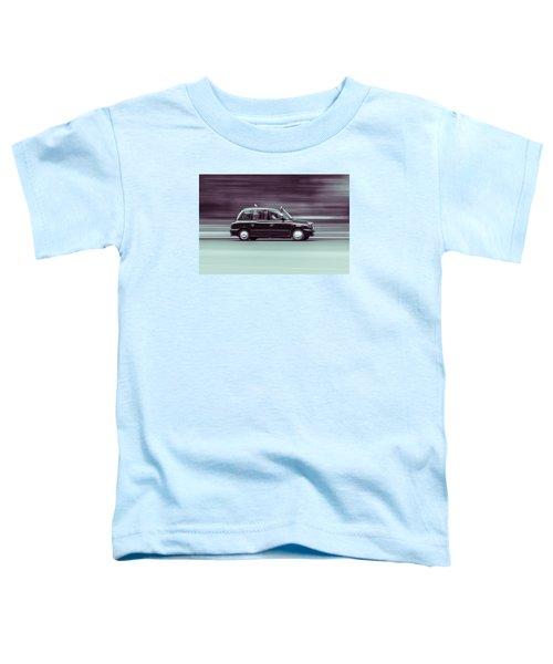 Black Taxi Bw Blur Toddler T-Shirt