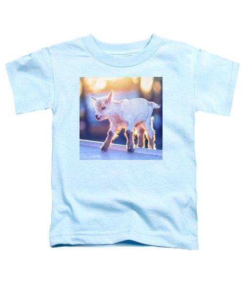 Little Baby Goat Sunset Toddler T-Shirt