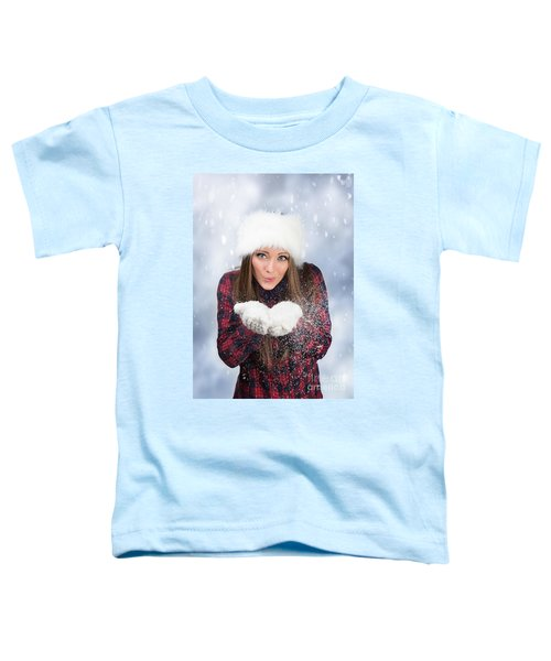 Blowing Snow In Winter Toddler T-Shirt