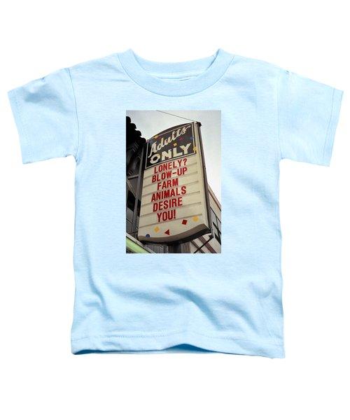 Blowup Farm Animals Sign Toddler T-Shirt