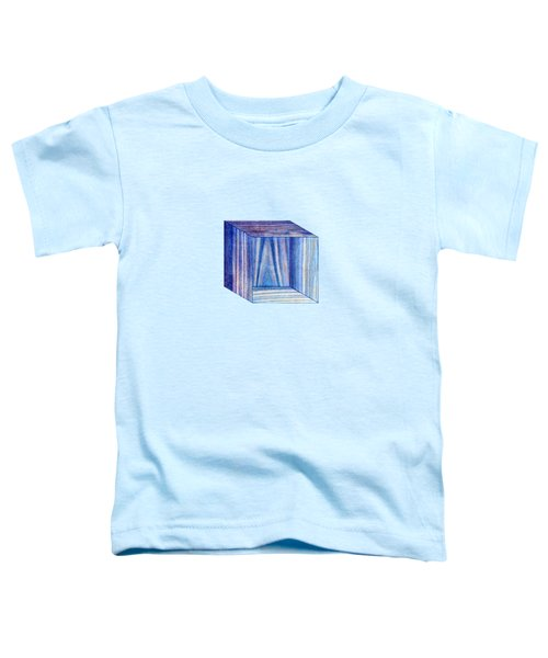 Blue Box Sitting Toddler T-Shirt by YoPedro