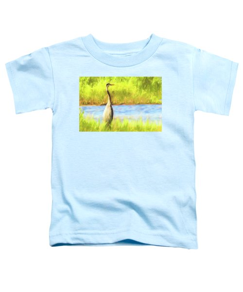 Blue Heron Standing Tall And Alert Toddler T-Shirt