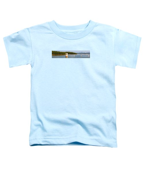 Blue Ridge Dam - Panoramic Toddler T-Shirt