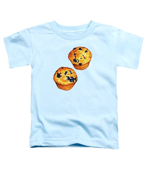 Blueberry Muffin Pattern Toddler T-Shirt by Kelly Gilleran