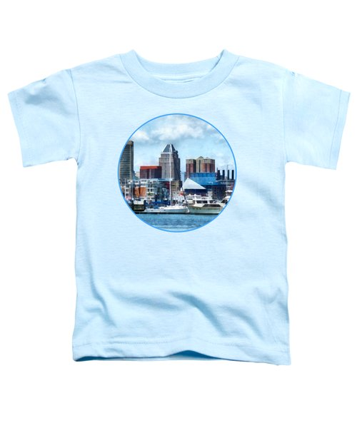 Boat - Baltimore Skyline And Harbor Toddler T-Shirt