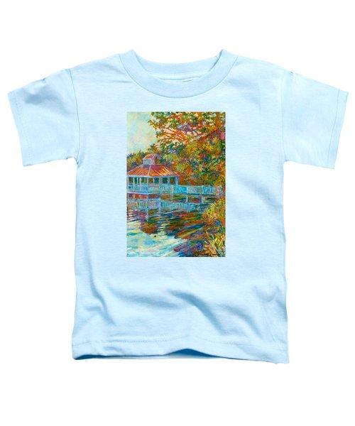 Boathouse At Mountain Lake Toddler T-Shirt